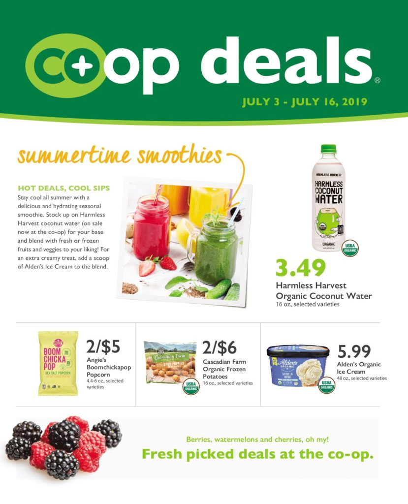 Co-op Deals. (A few products listed in the flyer are not available in our store. Here is the list of products we don't carry.)